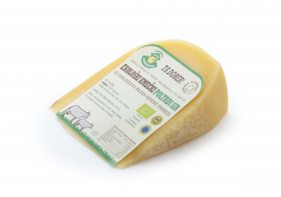 Organic semi-hard cheese